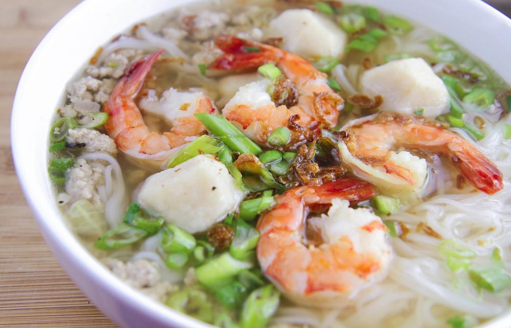Seafood & Pork Noodle Soup Hủ tiếu
